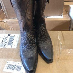 Ladies Lucchese boots 10M metallic NWT